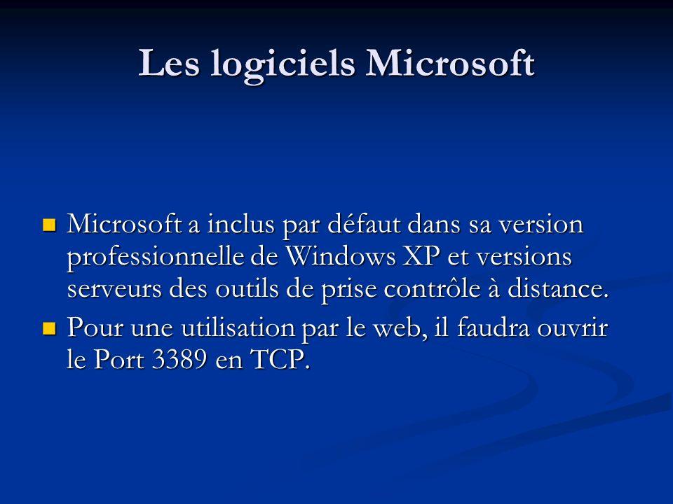 Les logiciels Microsoft