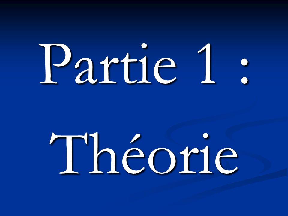 Partie 1 : Théorie