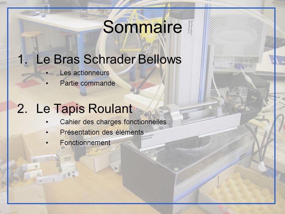 Sommaire Le Bras Schrader Bellows Le Tapis Roulant Les actionneurs