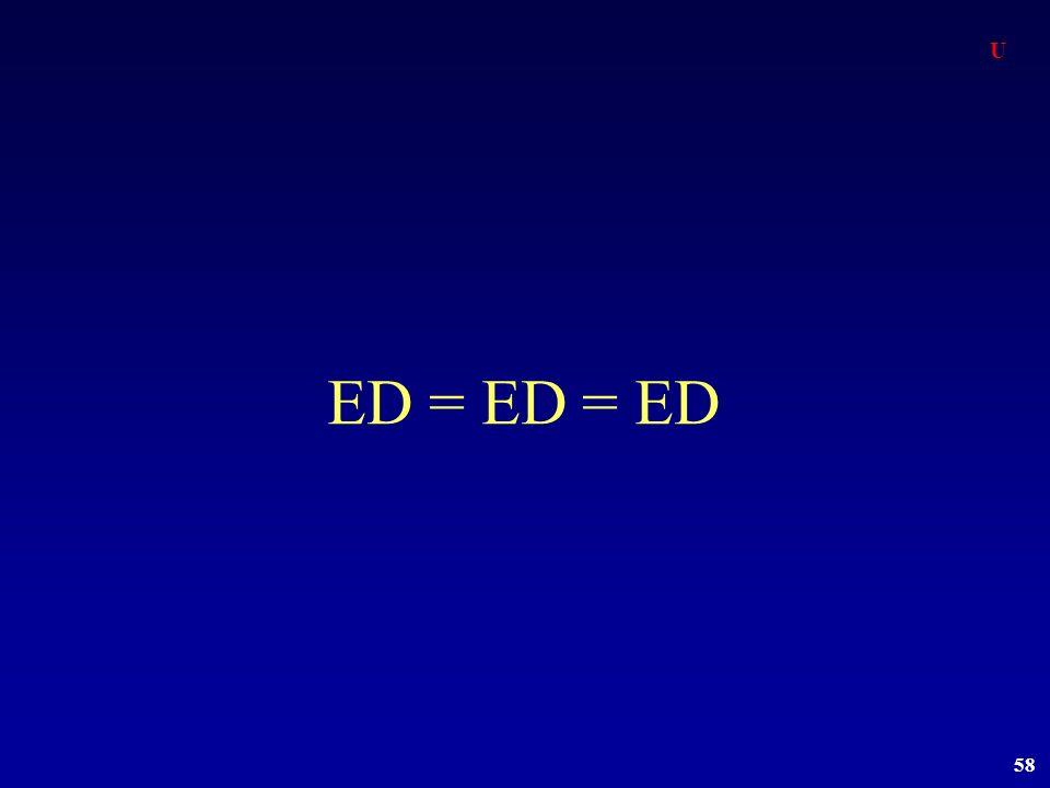 U ED = ED = ED