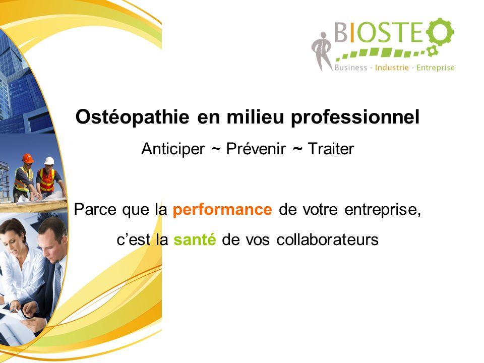 Ostéopathie en milieu professionnel
