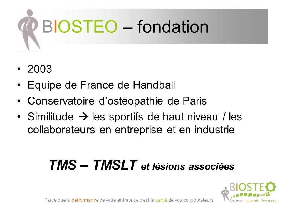 TMS – TMSLT et lésions associées
