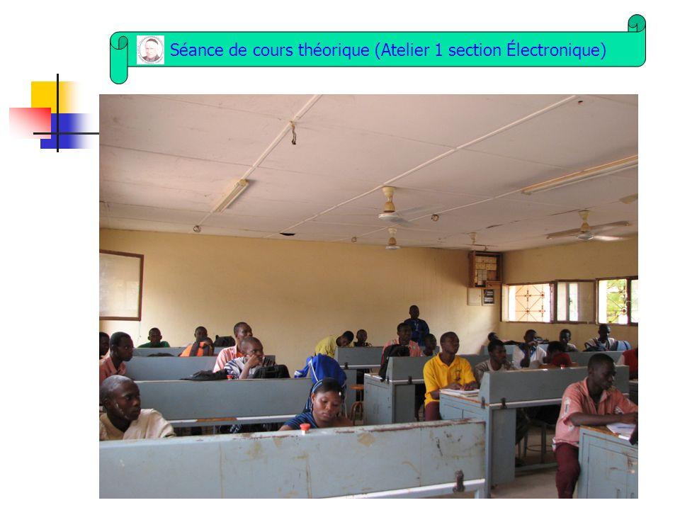 Séance de cours théorique (Atelier 1 section Électronique)