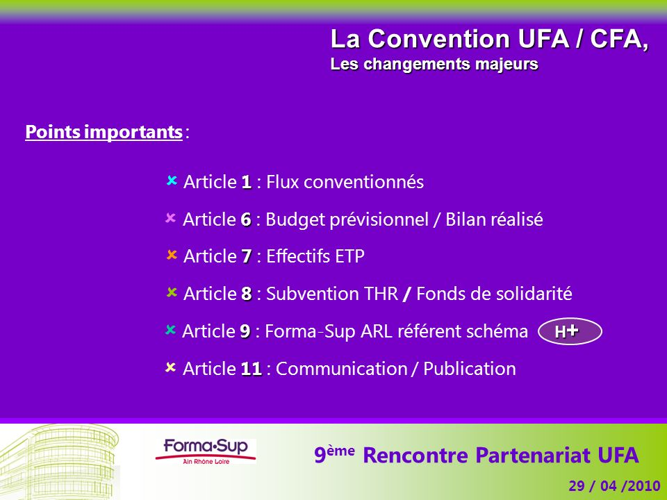 9ème Rencontre Partenariat UFA
