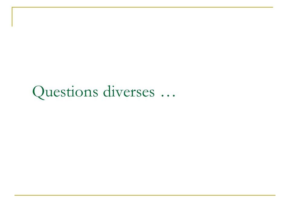 Questions diverses … Établissez le lien entre votre entrée en matière et votre sujet. Annoncez l objet et l importance de la réunion.