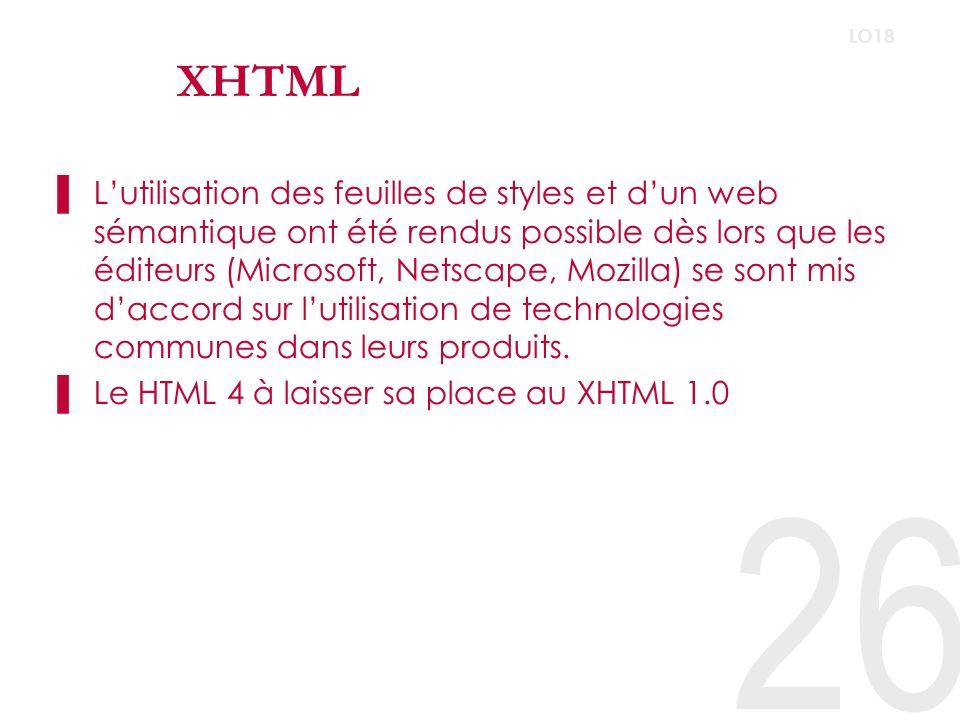 XHTML LO18.