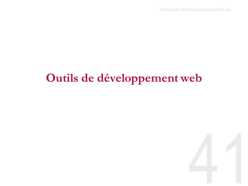 Outils de développement web