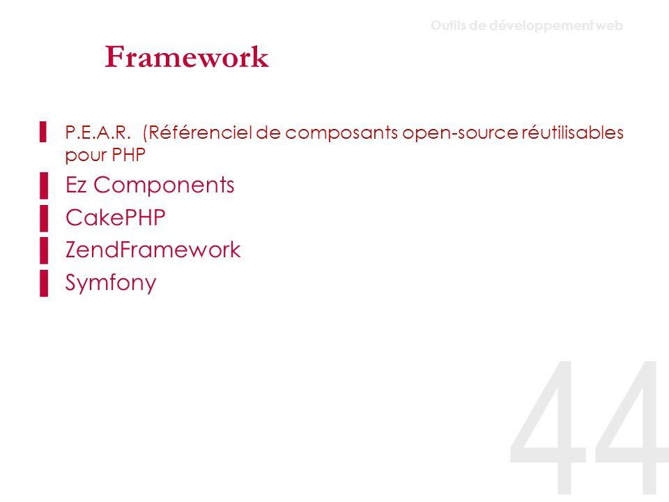 Framework Ez Components CakePHP ZendFramework Symfony