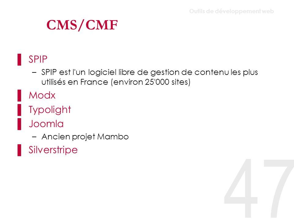 CMS/CMF SPIP Modx Typolight Joomla Silverstripe