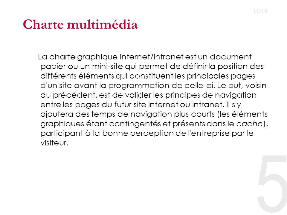 Charte multimédia LO18.