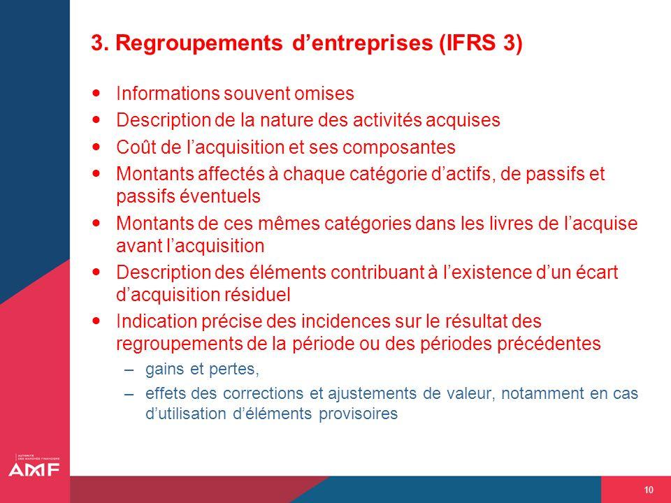 3. Regroupements d'entreprises (IFRS 3)