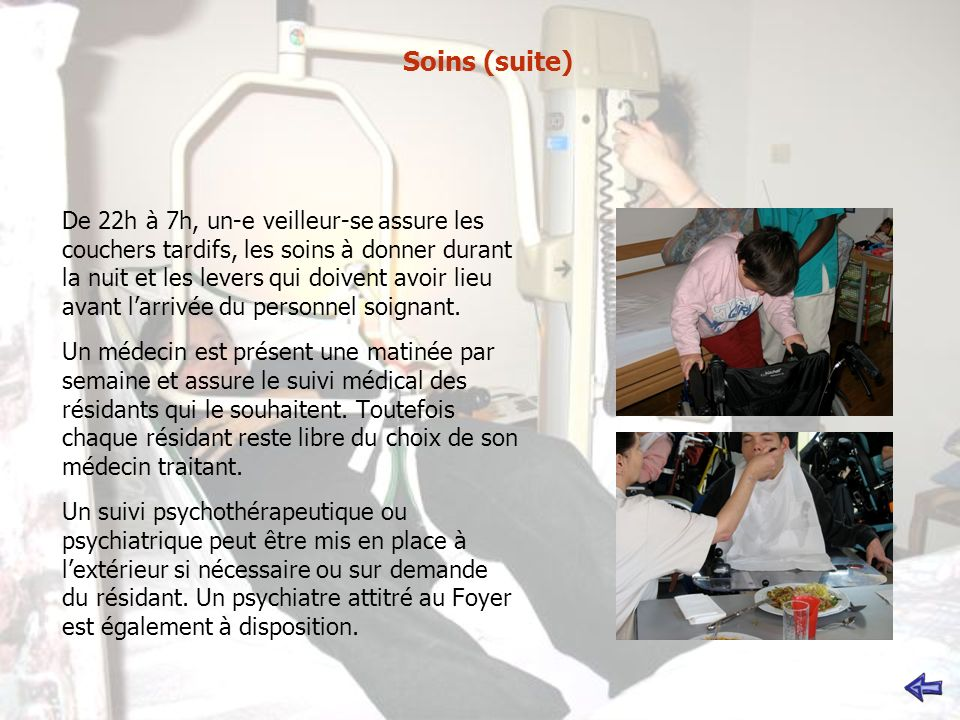 Soins (suite)