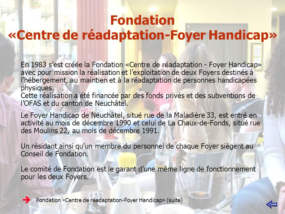 Fondation «Centre de réadaptation-Foyer Handicap»