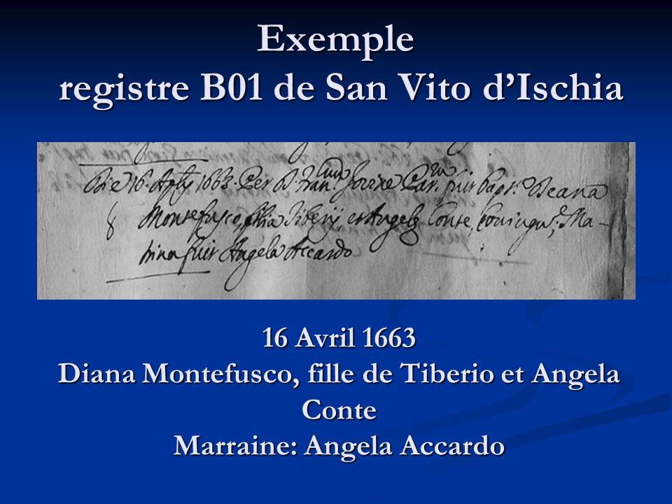 Exemple registre B01 de San Vito d'Ischia