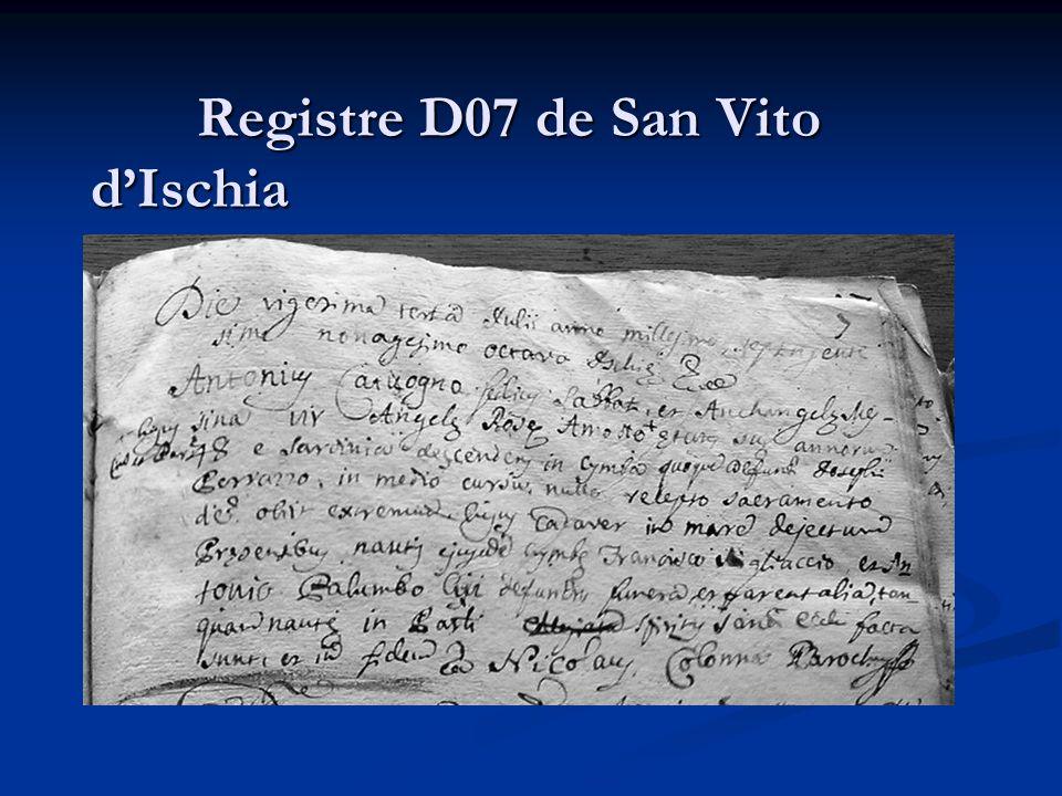 Registre D07 de San Vito d'Ischia