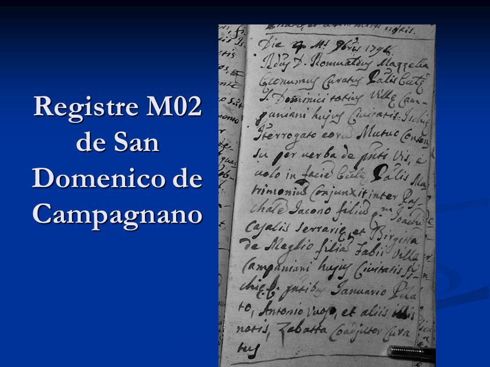 Registre M02 de San Domenico de Campagnano