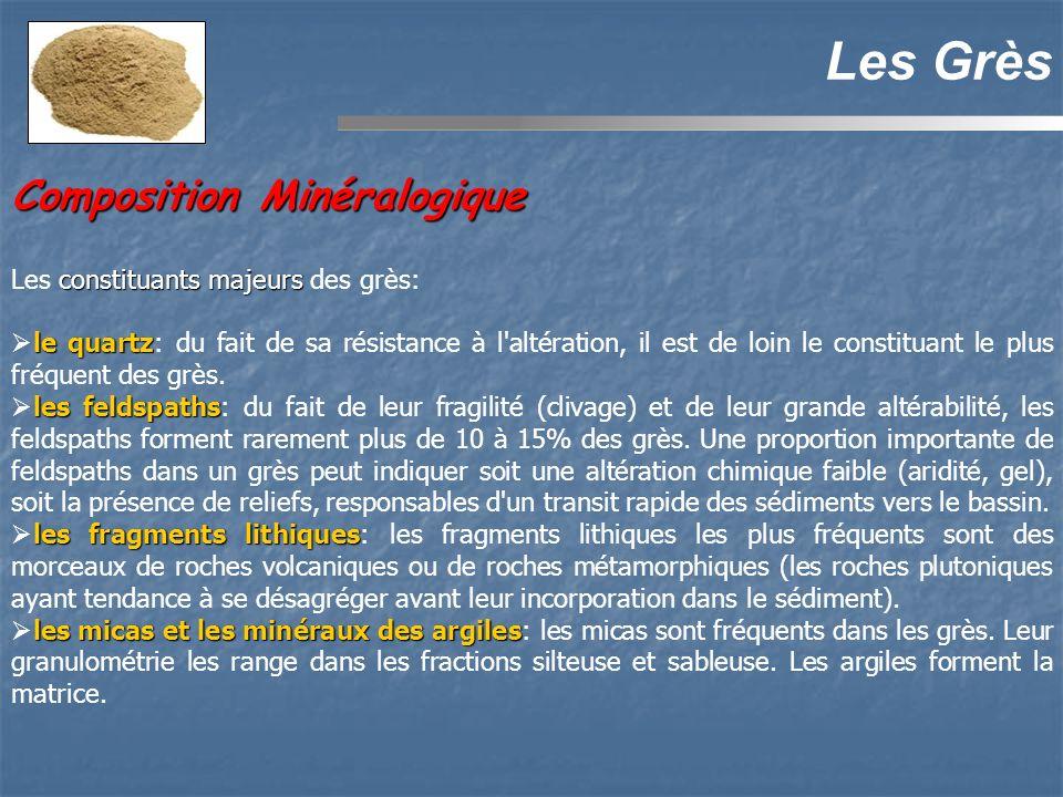 Les Grès Composition Minéralogique Les constituants majeurs des grès:
