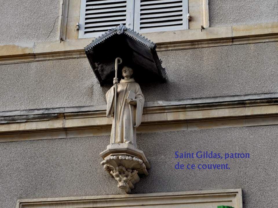 Saint Gildas, patron de ce couvent.