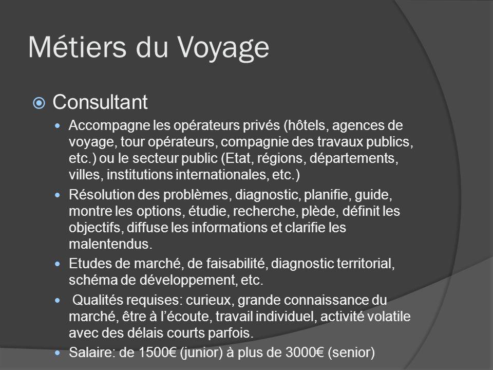 Métiers du Voyage Consultant