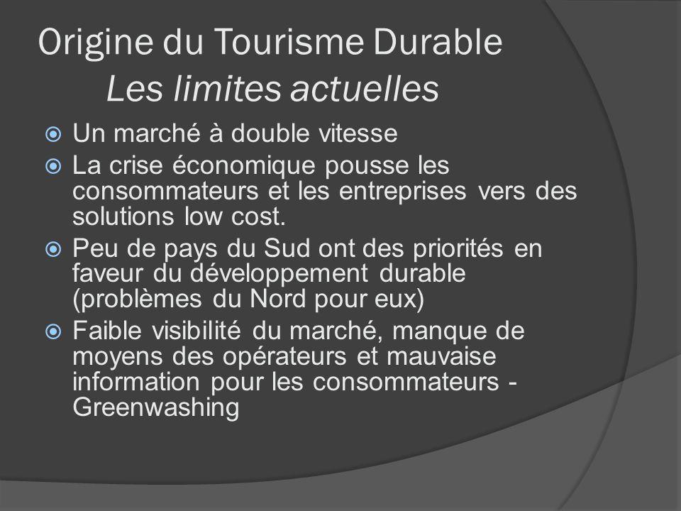 Origine du Tourisme Durable Les limites actuelles