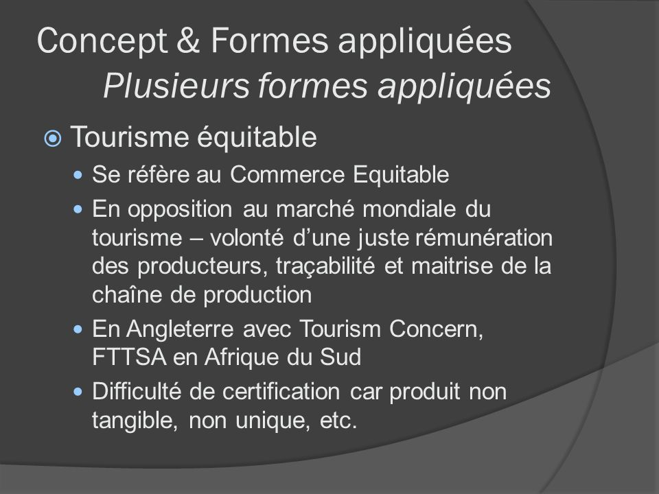 Concept & Formes appliquées Plusieurs formes appliquées