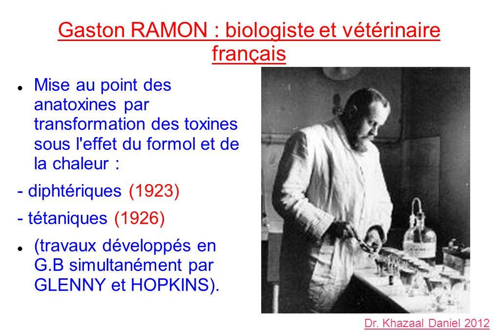 Gaston RAMON : biologiste et vétérinaire français