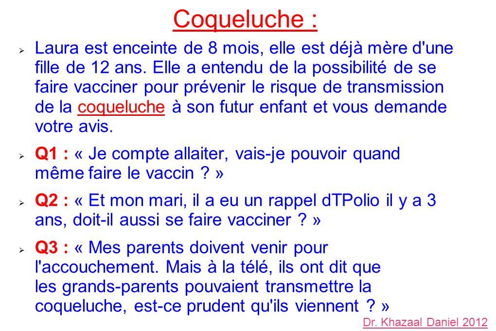 Coqueluche :