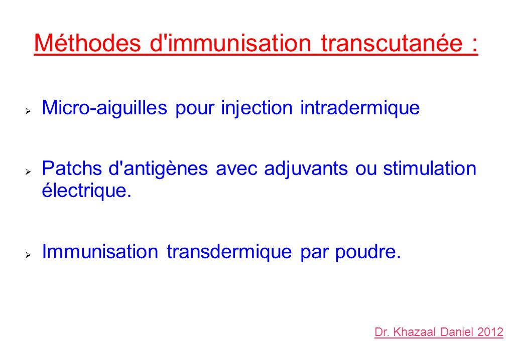 Méthodes d immunisation transcutanée :