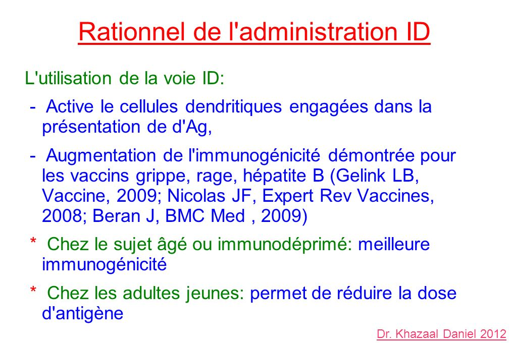 Rationnel de l administration ID