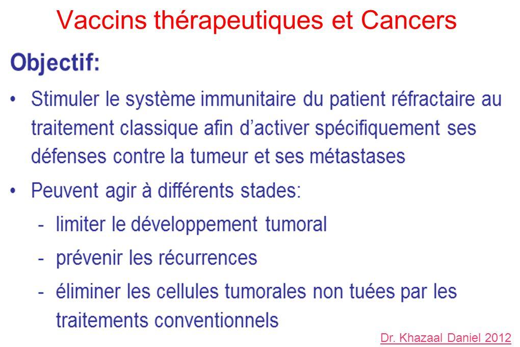 Vaccins thérapeutiques et Cancers