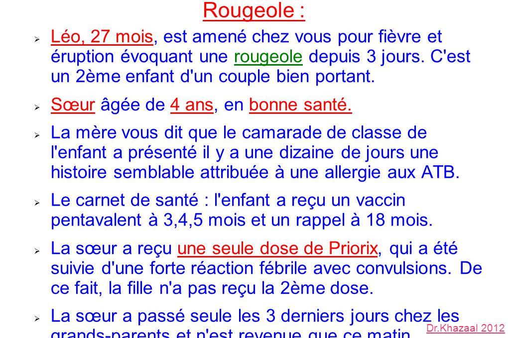 Rougeole :