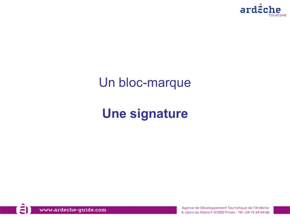 Un bloc-marque Une signature
