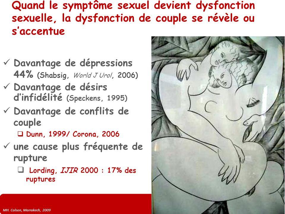 Quand le symptôme sexuel devient dysfonction sexuelle, la dysfonction de couple se révèle ou s'accentue