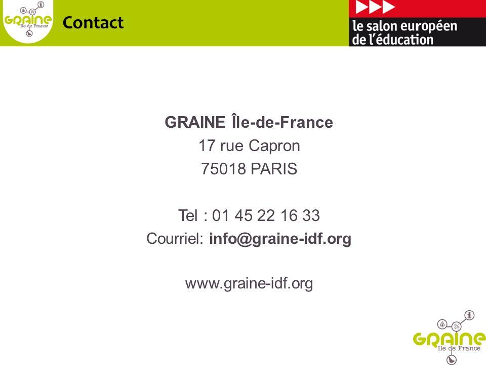 Courriel: info@graine-idf.org