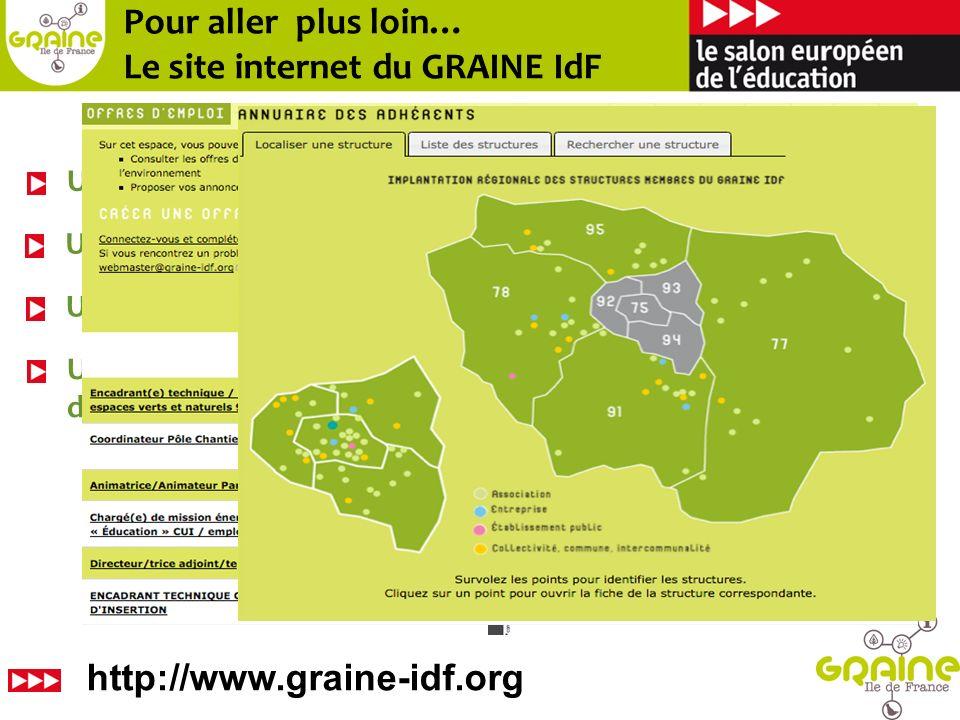 Pour aller plus loin… Le site internet du GRAINE IdF