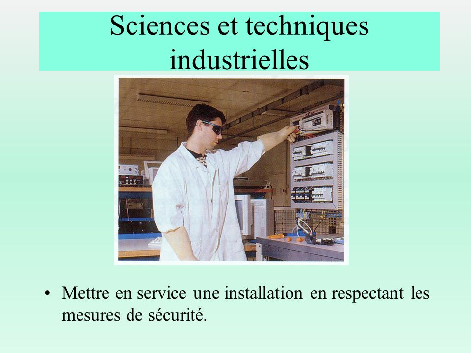 Sciences et techniques industrielles