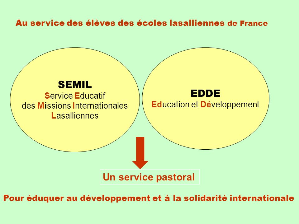 SEMIL EDDE Un service pastoral