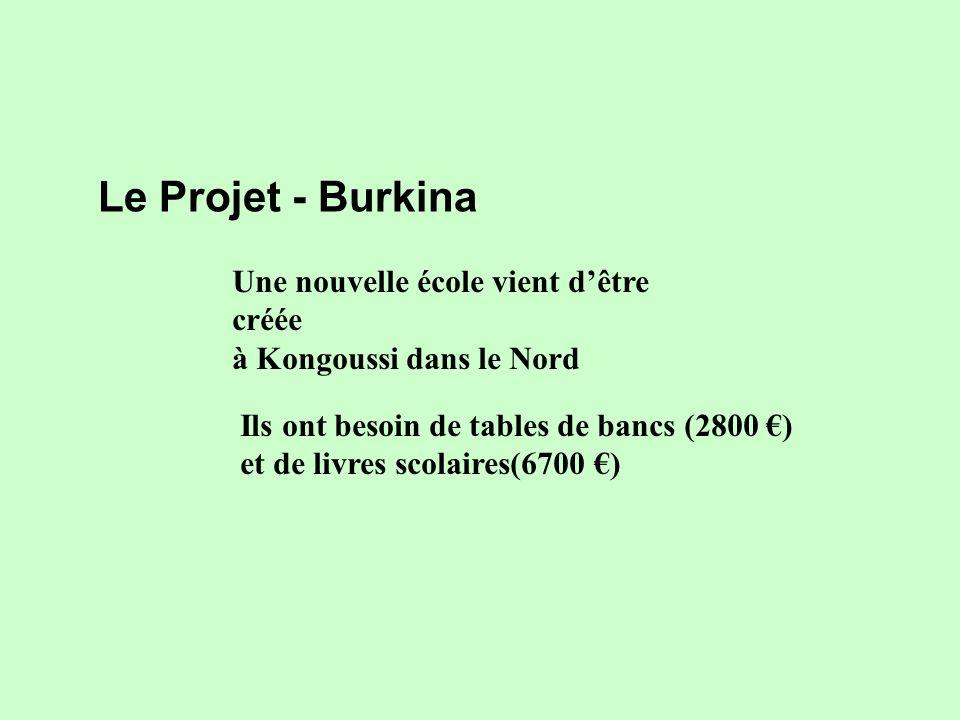 Le Projet - Burkina Une nouvelle école vient d'être créée