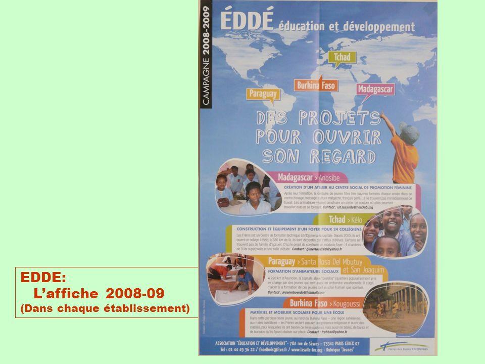 EDDE: L'affiche 2008-09 (Dans chaque établissement)