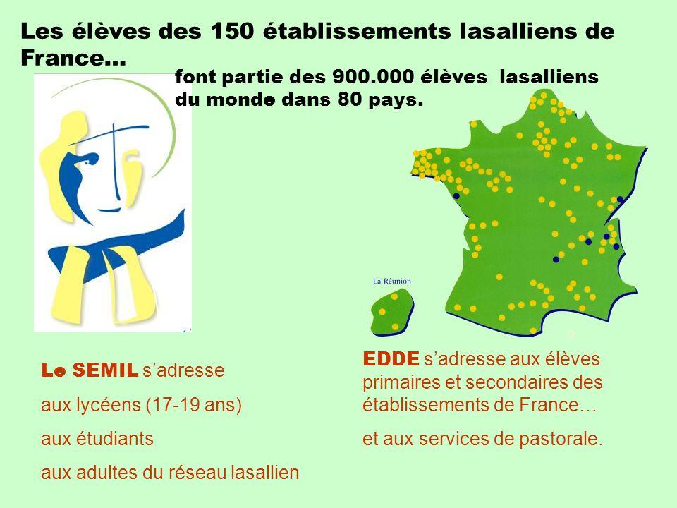 Les élèves des 150 établissements lasalliens de France…