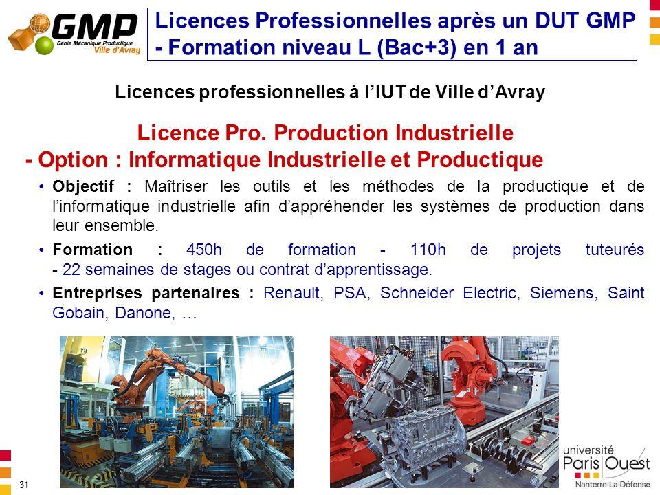 Licences professionnelles à l'IUT de Ville d'Avray