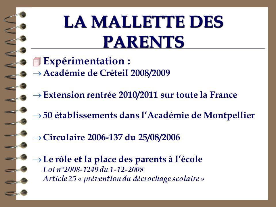 LA MALLETTE DES PARENTS