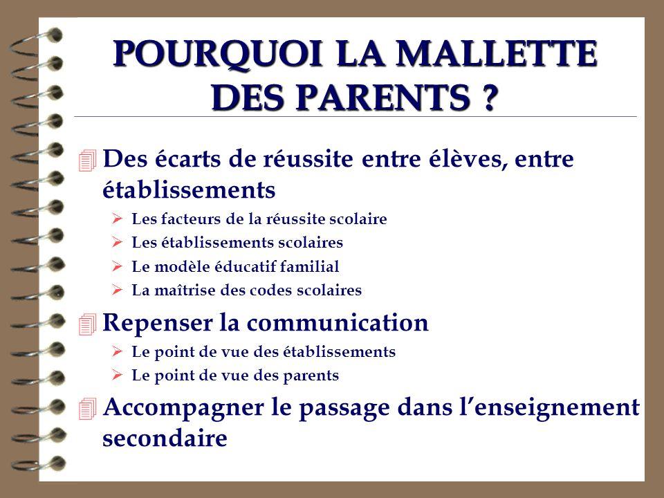 POURQUOI LA MALLETTE DES PARENTS