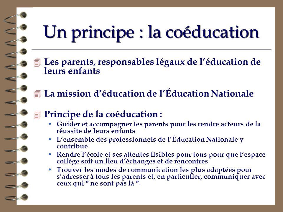 Un principe : la coéducation