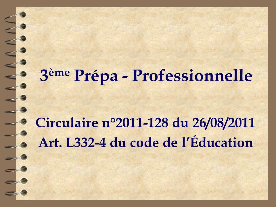 3ème Prépa - Professionnelle