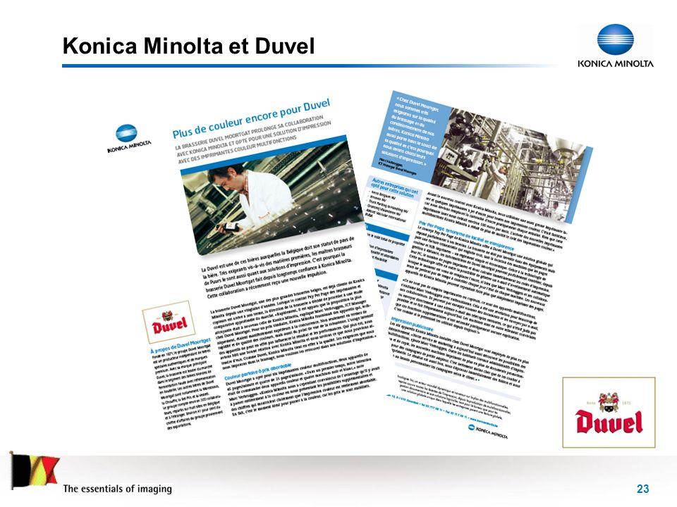 Konica Minolta et Duvel
