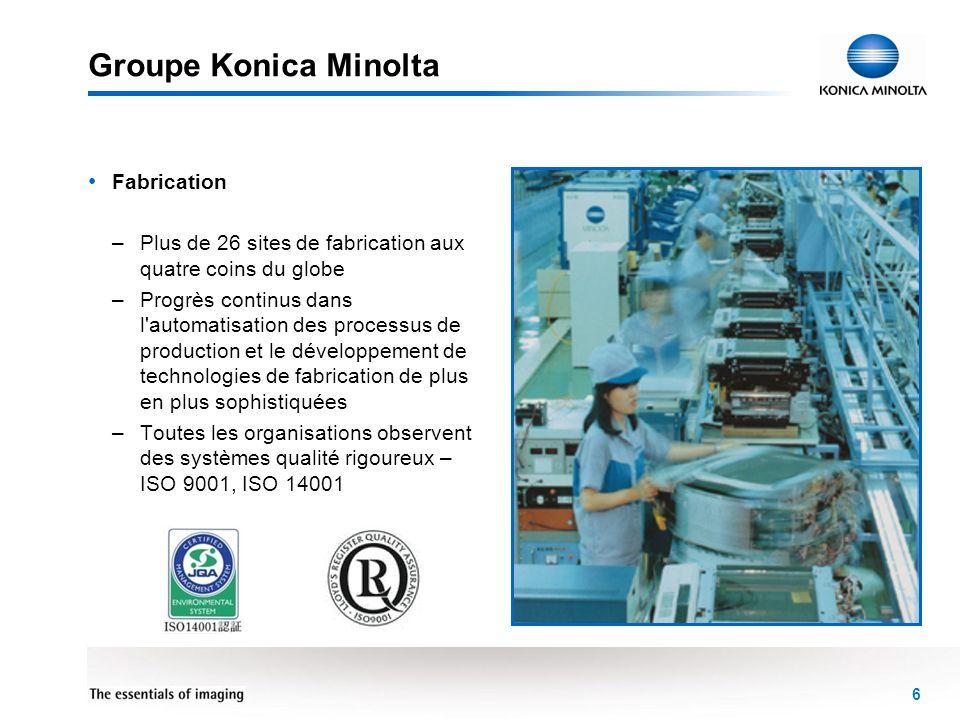 Groupe Konica Minolta Fabrication