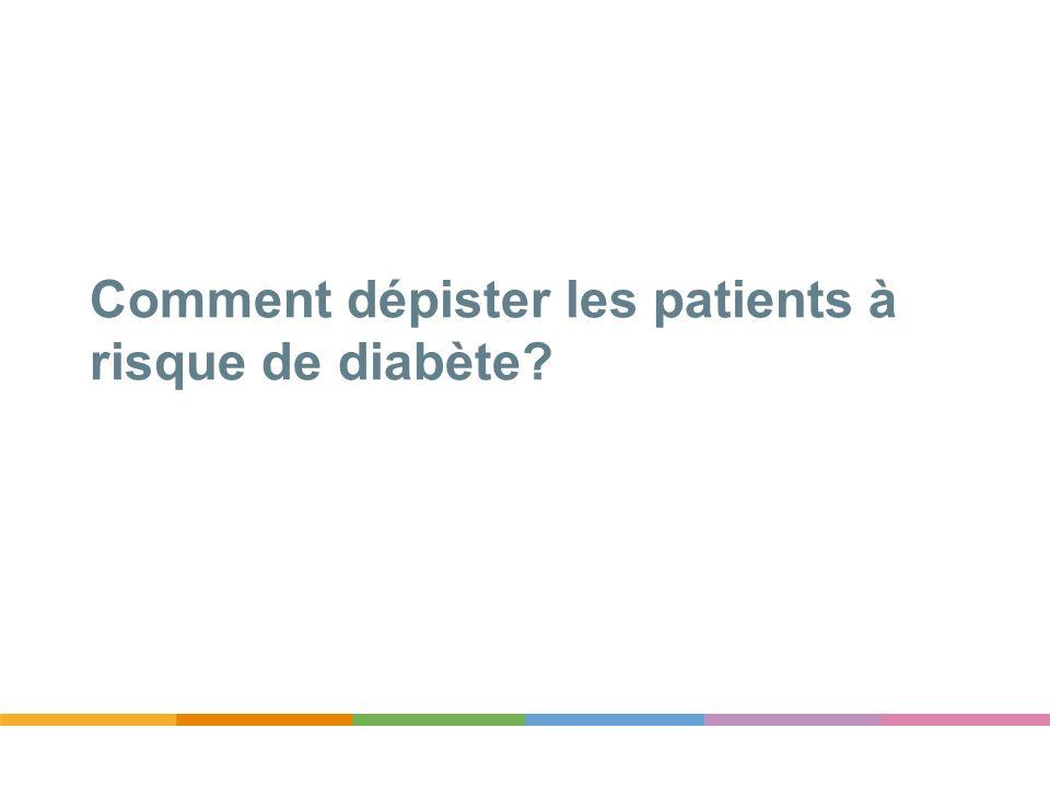 Comment dépister les patients à risque de diabète