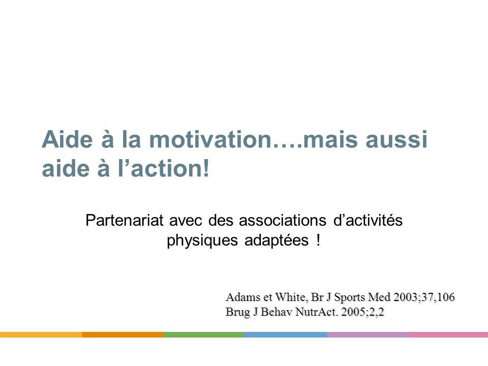 Aide à la motivation….mais aussi aide à l'action!