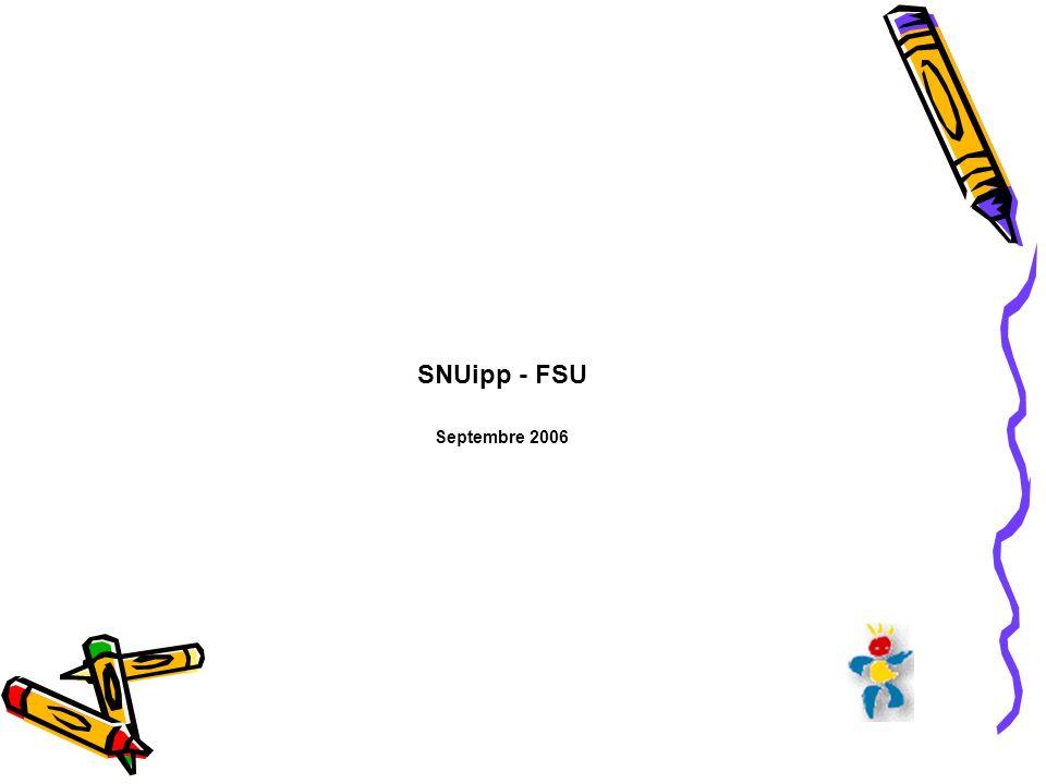 SNUipp - FSU Septembre 2006